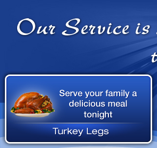 Serve your family a delicious meal tonight | Turkey Legs