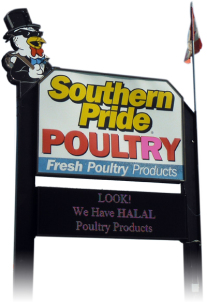 Southern Pride Poultry sign